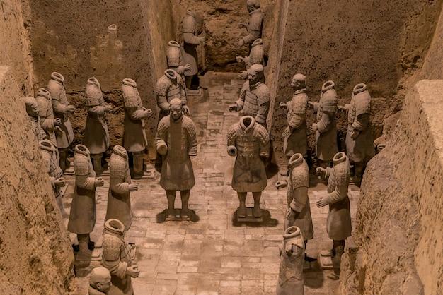Guerriers xian china en terre cuite