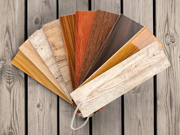 Guide des couleurs du bois de rendu 3d
