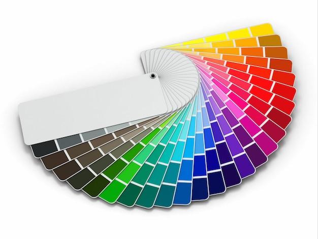 Guide de palette de couleurs sur fond blanc