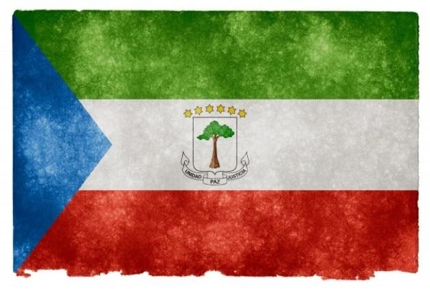 Guinée équatoriale grunge flag