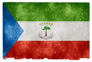 Guinée équatoriale guinée grunge flag
