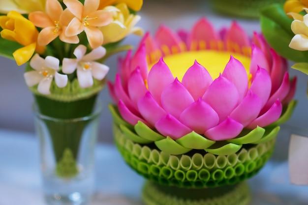 Guirlande de jasmin bouddha, art de moulage de style thaï