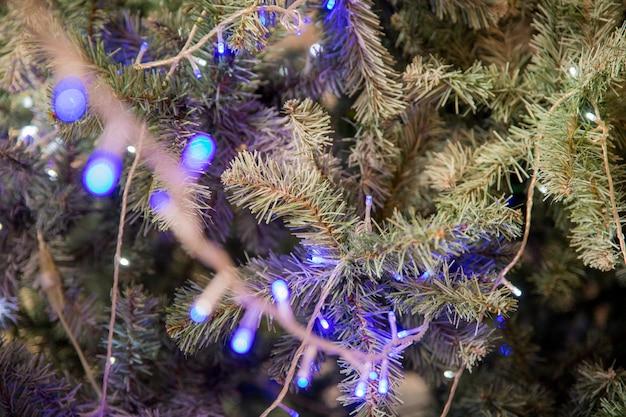 Guirlande de noël, arbre de noël