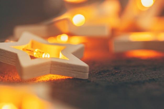 Guirlandes lumineuses en forme d'étoile, décoration de fête pour noël