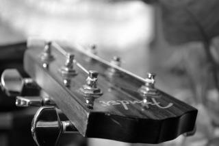 Guitare acoustique noir blanc