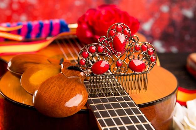 Guitare espagnole cassic avec éléments de flamenco