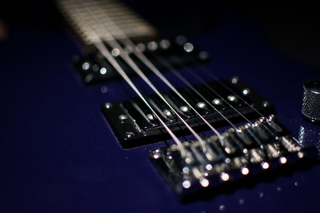 Guitare moderne. fond, instrument.