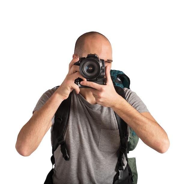 Guy avec une grande passion pour la prise de photos