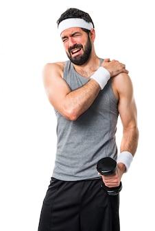 Gymnase drôle santé forte athlétique