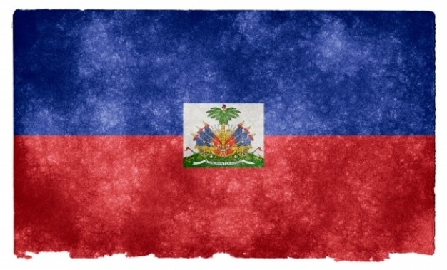 Haïti grunge flag