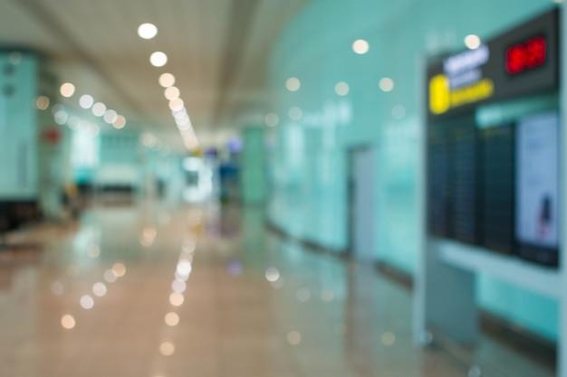 Hall de l'aéroport floue