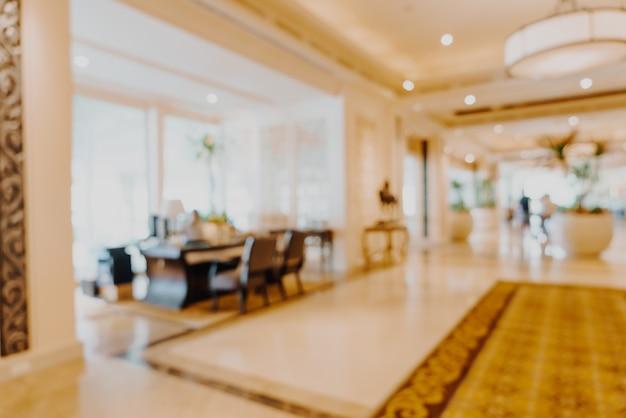 Hall de l'hôtel de luxe flou abstrait pour le fond