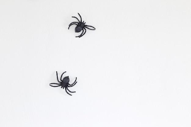 Halloween araignées noires sur le mur