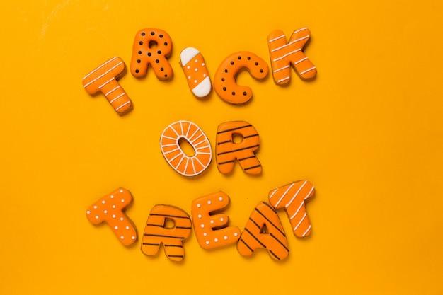 Halloween avec des biscuits