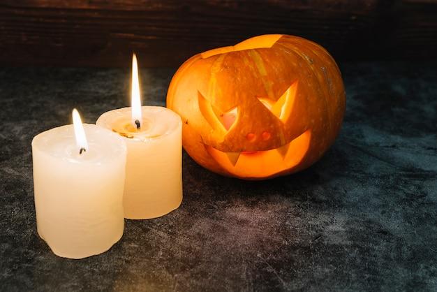 Halloween citrouille et bougies