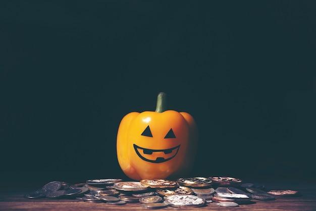 Halloween et concept d'entreprise avec de l'argent