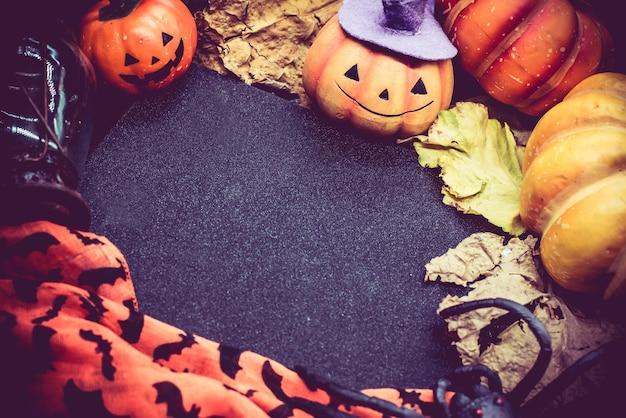 Halloween avec espace copie et citrouille