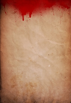 Halloween fond avec flocs de sang sur papier grunge