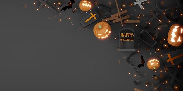 Halloween toile de fond copie espace festival jour fond illustration 3d