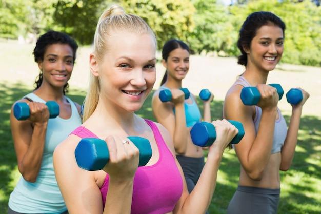 Haltérophilie multiethnique sportive
