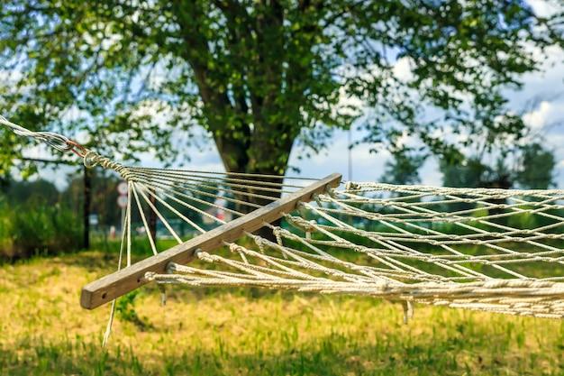 Hamac sur le jardin d'été
