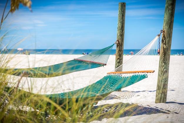 Hamac sur une plage