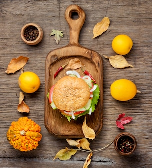 Hamburger diététique aux légumes