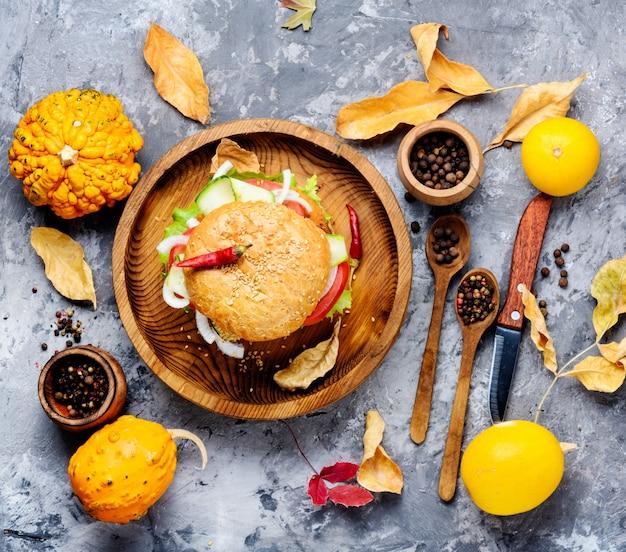 Hamburger diététique à la citrouille