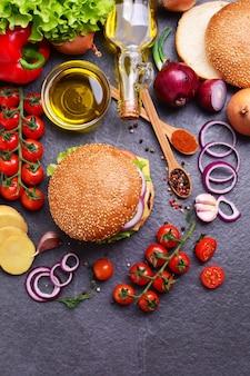Hamburger de la meilleure nourriture