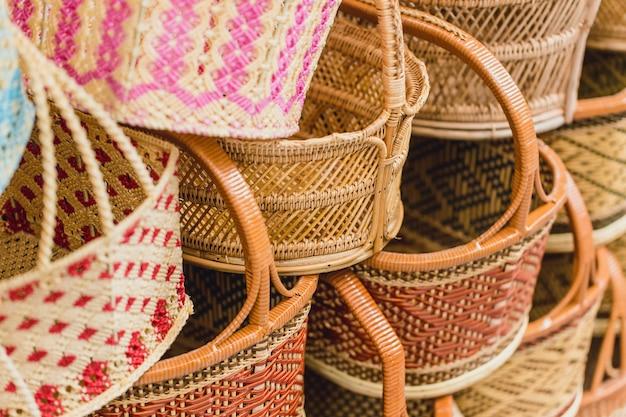 Handcraft woven basket produit de thaïlande otop shop sme meilleure qualité thaïlandaise à vendre.