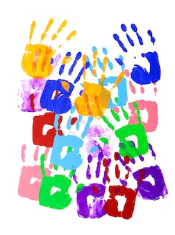 Handprints multicolor