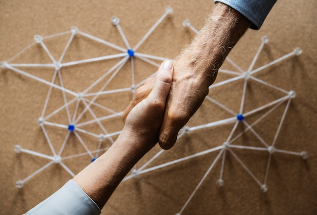 Handshake se connectant sur la simulation de réseau