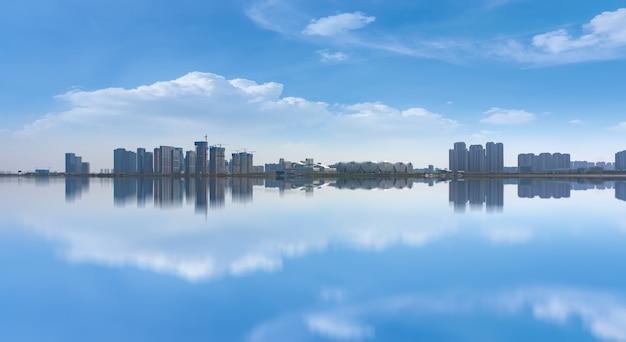 Hangzhou financial district plaza immeuble de bureaux d'architecture moderne