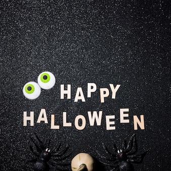 Happy halloween composition avec espace de copie sur le dessus