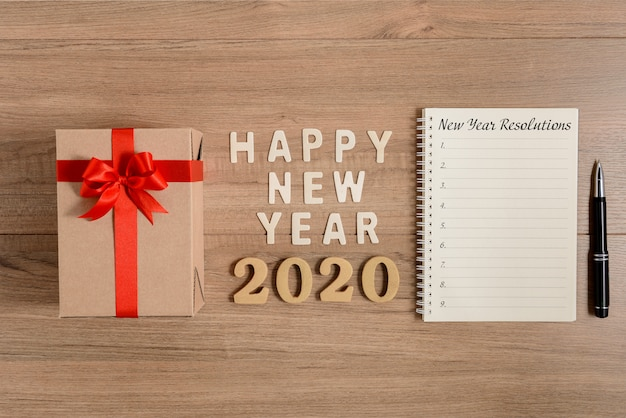Happy new year 2020 liste des résolutions sur le bois et le nouvel an