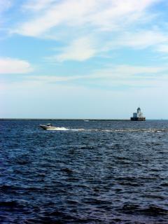 Harborfront milwaukee, bateau, lakemichigan