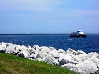 Harborfront milwaukee, lac, l'eau