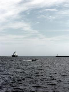 Harborfront milwaukee, phare, une balise