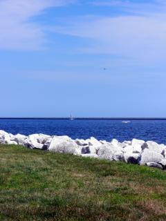 Harborfront milwaukee, voile