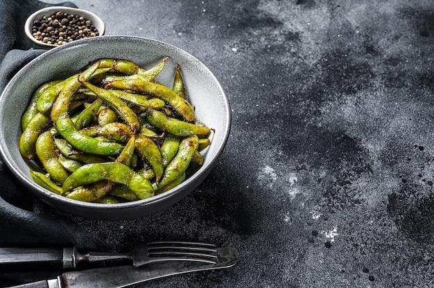 Haricot edamame cuit à la vapeur, soja vert