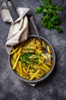 Haricots jaunes cuits