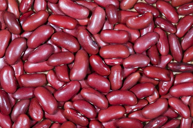 Haricots rouges, texture, fond, gros plan