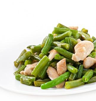 Haricots verts au poulet