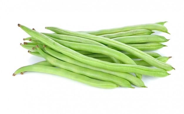 Haricots verts isolés