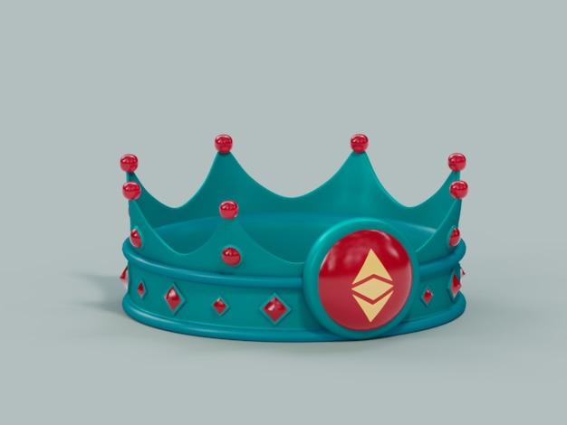 Hashtag crown king gagnant champion illustration 3d render