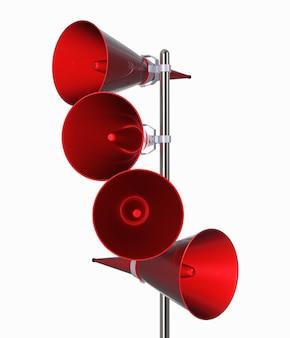 Haut-parleurs comme icône d'annonce. illustration sur blanc