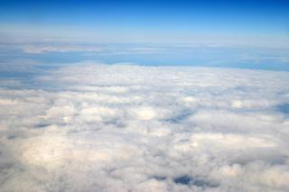 Haute altitude des nuages vue