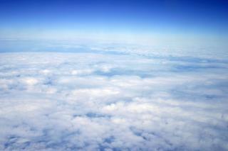 Haute altitude vue nuage, bleu
