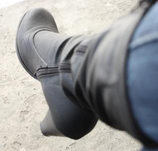 Haute chaussure noire