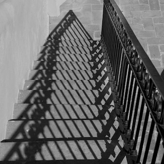 Haute vue angle, de, escalier, belmond, casa, de, sierra, nevada, san, miguel, allende, guanajuato, mexi